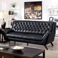 fabulous leather mid century modern sofa black leather tufted mid century modern couch furniture myfurnituredepo black leather mid century