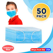 <b>Disposable Kids</b> Face <b>Mask Child</b> Size pleated 3 ply - 50 pieces ...