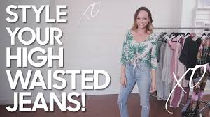 How to <b>Style High Waisted</b> Jeans - YouTube