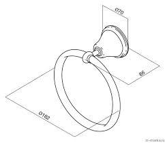 <b>Полотенцедержатель Am.Pm 5 O Clock</b> A2534400 купить в Санкт ...