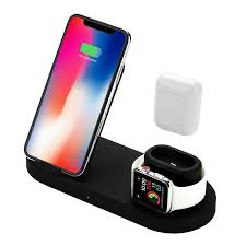4 In 1 Wireless Charger Station <b>10W Qi Fast Wireless</b> Charger Stand ...