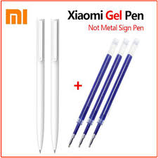<b>Original Xiaomi Mi Gel</b> Pen MI Pen 9.5mm No Cap Bullet Pen Black ...