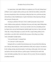 descriptive essay example    samples in pdf personal descriptive essay example