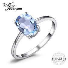 2019 <b>JewelryPalace Oval 1.5ct Natural</b> Sky Blue Topaz Birthstone ...
