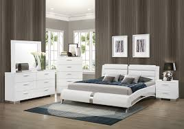 Mens Bedroom Set Coaster 300345q S4 Felicity Glossy White 4 Pcs Queen Bedroom Set
