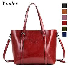Yonder <b>genuine leather shoulder bag female</b> fashion <b>handbags</b> ...