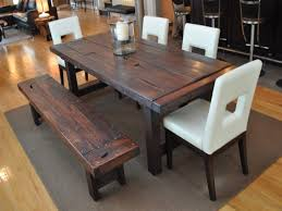 Dining Room Table With Benches Elegant Rustic Dining Room Set With Brilliant Dining Room Table