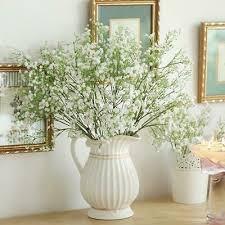 Artificial Gypsophila Baby's <b>Breath</b> Fake Silk Flowers Wedding ...