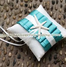 Синий и белый <b>Морская звезда</b> атласное свадебное <b>кольцо</b>...