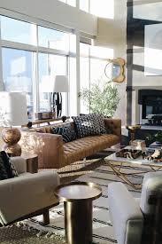 beautiful living room strip rug light brown leather sofa beautiful brown living room