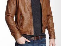 46 Best Leather jackets images | Leather men, Man fashion, Men wear