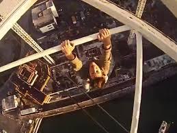 Video: Don't look down! Vertigo-inducing footage of climber dangling