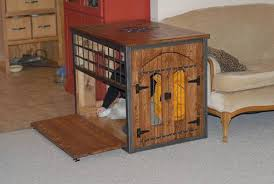 welded and wood dog crate kennel furniture style dog crates