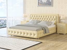 <b>Кровать</b> Veda 6 (Экокожа Бежевый перламутр) 140x200 ...