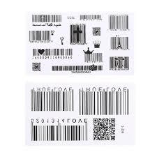 Штрих-код, <b>наклейки</b> для боди-арта, водостойкие переводные ...