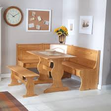 furniture un polish wooden corner breakfast table with storage bench placed on white ceramic tiled breakfast furniture