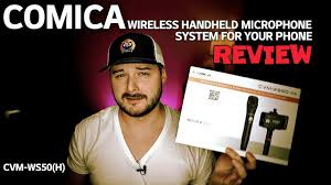 <b>Comica</b> Wireless Mic System For Your Phone REVIEW <b>CVM</b>-<b>WS50</b>(H)