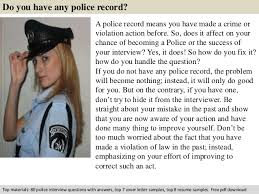 police promotional interview questionsfree pdf