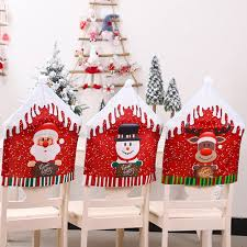 <b>Christmas Decoration</b> Chair Covers Dining Seat Santa Claus Home ...