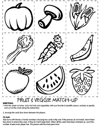 Small Picture Fruit and Veggie Match Coloring Page crayolacom