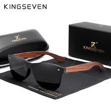 KINGSEVEN Natural Wooden Sunglasses Men Polarized Fashion ...