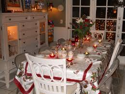 Christmas Dining Room Wonderful White Glass Wood Modern Design Christmas Table Setting