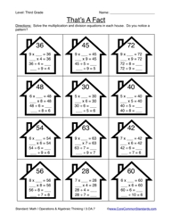 Third Grade Common Core Worksheets - Have Fun TeachingCommon Core Worksheet - 3.OA.7