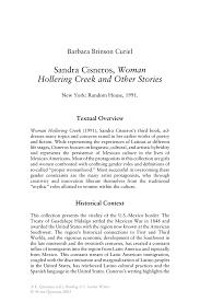 sandra cisneros w hollering creek essay