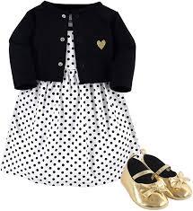 Hudson Baby Girl Dress, Cardigan and Shoes: Clothing - Amazon.com