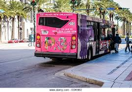 brightly colored public transport bus on canal street in new orleans la stock image brightly colored offices central st