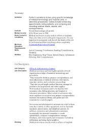 nice secretary job description resume resume template online secretary job description resume medical scheduler resume gallery photos