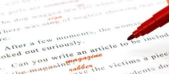 Corrections in writing