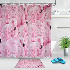 Розовый тропический <b>Фламинго</b> мечтательный ткани занавески ...