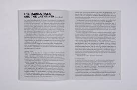 the tabula rasa and the labyrinth tamar shafrir as much as the future of design will be characterized by the potential of technology for contextual adaptation it cannot be the only factor