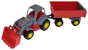Купить Трактор <b>Полесье Силач</b> №1 с прицепом и ковшом (45027 ...