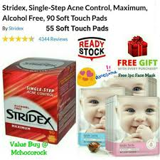Stridex <b>Single</b>-<b>Step Acne Control</b> Maximum, Alcohol Free, 55/90 Soft ...