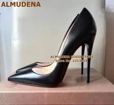 <b>ALMUDENA</b> Top Brand <b>Nude</b> Brown Wine Red Matte Leather High ...