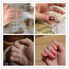 <b>120Pcs</b>/<b>lot Clear French Full</b> Cover Acrylic Nail Mold With Scale ...