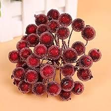 Starworld <b>Christmas</b> Artificial Fruit Berry <b>Holly Flower</b> Pick for DIY ...