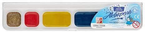 <b>Луч Краски акварельные Престиж</b> 6 цветов, медовые, без кисти ...