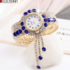 2019 Top Brand Luxury Rhinestone Bracelet <b>Watch Women</b> ...