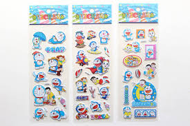 6 Sheets/set cartoon <b>Japanese</b> anime Doraemon <b>stickers</b> for kids ...