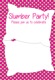 printable slumber party invitation party ideas printable slumber party invitation