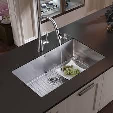 undermount kitchen sink stainless steel: undermount stainless steel kitchen sink faucet grid strainer and dispenser