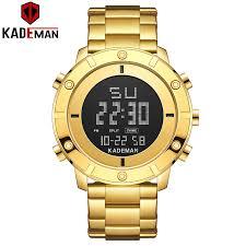 <b>KADEMAN</b> New Arrival Digital Sport Watch Men Luxury Full Steel ...