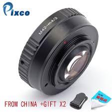Pixco <b>M42</b> M <b>4</b>/<b>3</b> Speed Booster Focal Reducer <b>Lens Adapter</b> Suit ...