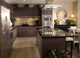 black appliance matte seamless kitchen: contemporary kitchen with dark brown cabinets and black counter