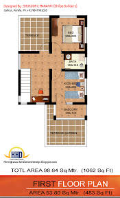 Sq Ft  bedroom low budget house   Kerala home design and        First floor plan   Sq Ft  bedroom low budget house