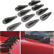 10pcs <b>Carbon Fiber</b> Look <b>Car</b> EVO <b>Style</b> Exterior Roof Shark Fins ...