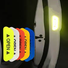 4Pcs/Set Car OPEN Reflective Tape Warning Mark Reflective ... - Vova